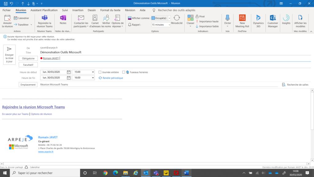 Rejoindre une présentation Microsoft Teams