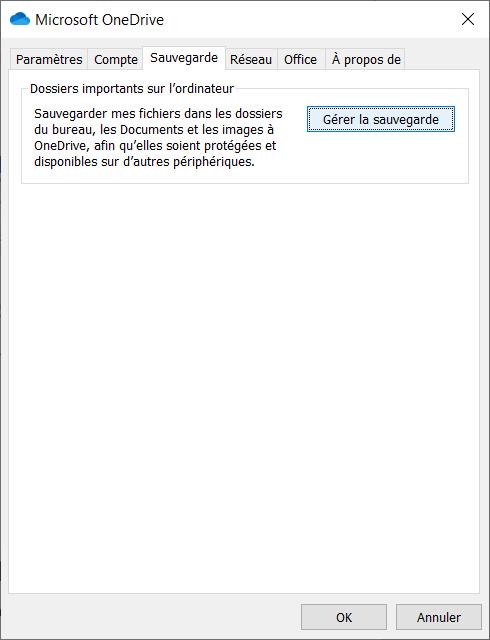 Synchroniser son bureau sur OneDrive